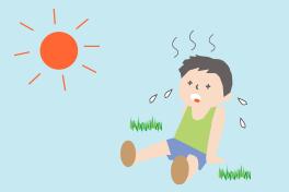 熱中症の少年